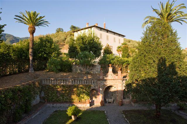 Italian Garden In Historical Villa In Tuscany Lucca